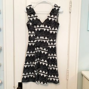 H&M Tribal Printed Fit and Flare Dress (S)